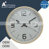Fast Production Highest Level Wood Glass Wall Clock