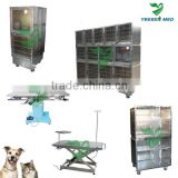 YSVET0510 Stainless steel Whole size 2400*700*2140mm veterinary hospital cage