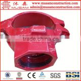 Fm ul approved ductile cast iron grooved fittings mechanical tees/national grooved fittings