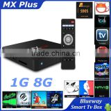 MX Plus TV Box Amlogic S905 Quad Core 2.0G Android 5.1.1 1G RAM 8G ROM HD WIFI Smart TV Box Kodi 14.2 Fully Loaded