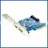 Super-Speed USB 3.1 10Gbps PCI-E 1port USB3.1 Type C 1 port USB 2.4A quick charger Expansion Card Desktop PC