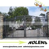 Most popular big square tube gate of wrought iron/metal iron gate
