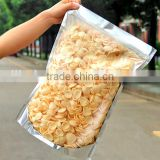 Brand new material super big Aluminum zipper pouch with front clear window for packing snacks/ snacks storage plastic bag