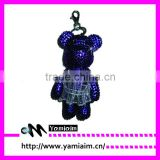 Wholesale bling bear with skirt keychain