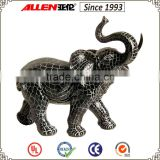 "15"" black mosic finish home resinic elephant figurine, animal figurine for table top"