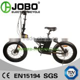 Small Foldable 20 Inch Electric Fat Tire Bike Fat Ebike 36V 250W