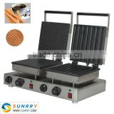 Hot-sell 3.0kw Electric Waffle Pancake Machine Snack Equipment With CE (SUNRRY SY-KB30C)
