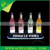 acrylic LED Four Bottle Glorifier/PMMA bottle tray/perspex wine display stand
