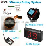 Restaurant Table Call Button/Wireless Call Buzzer System/Buzzer Restaurant Table Calling Button