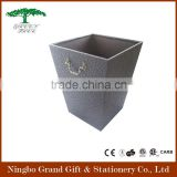 office hotel home use PU leather waste bin