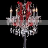 Wholesale red wedding crystal candelabra on sale