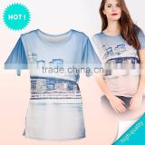 custom fashion acrylic knitted high quality cheap price fashion wholesale blue cotton t-shirt