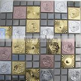 Square shape stainless steel mosaic/metal mosaic kitchen backsplash tile