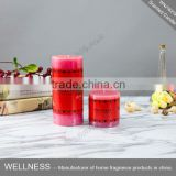 hotsale red scente pillar candle for decoration                                                                                                         Supplier's Choice