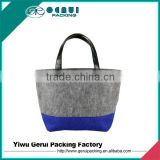 custom high quality felt tote bag