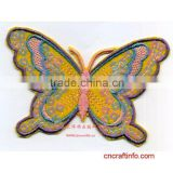 digitizing colorful butterfly embroidery textile patches