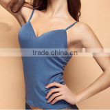 2016 OEM Women Bra Padded Cozy Adjustable Strap Short Camisole Tops