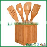 Bamboo kitchen utensil sets with utensil box
