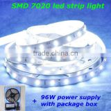 high brightness waterproof 5m dc12v 72leds/m white smd 7020 led strip light rigid chinese supplier