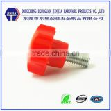 Hand tighten hexagon plastic head screw for furniture
