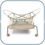 Stainless steel Baby Bassinet,Foldable Baby Bassinet,Comfortable Baby Bassinet with mosquio net