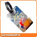 custom soft rubber 3D airline baggage tag with logo