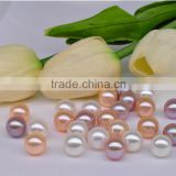 freshwater button shape loose pearls no holes