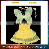 2016 LongKool new arrival hot sale wholesale fairy wings dresses pretty girls butterfly wings costume