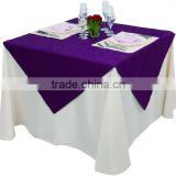polyester jacquard solid color spandex table cloth Square Hotel banquet restaurant dining bar conference meeting table cover