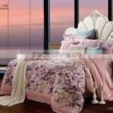 china home textile new 3d printed luxury pink bed sheet designs