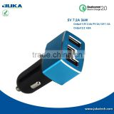 DC 12v 24v car battery charger for car use , phone car charger , car mobile charger with 3 USB