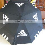 Durable promotional fiberglass windproof golf umbrella