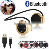 Neckband Mini Wireless Sport Bluetooth Headset/headphone Music Stereo Bluetooth Earphone SD Card Slot