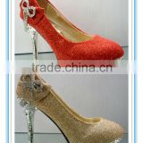 Gorgeous Hot Sale Bow Red High Heel Wedding Shoes(WS-5016)