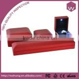 Magnetic led jewelry boxes & red plastic jewelry packaging with led lights