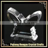 fashion crystal 3d butterfly ornaments blank