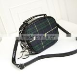 205 Women Fashion classic checked Leather Messenger Crossbody Lady Shoulder Bag