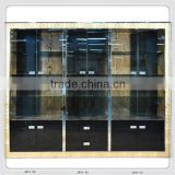 Customized 2014 best selling crystal kitchen cabinet, solid wooden cupboard JH14-52 from china supplier-JL&C Furniture