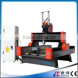 4 Axis Hybird Servo Motor Heavy Duty Stone CNC Router ZK-9015 900*1500MM With 5.5KW Water Cooling Spindle&Air Cylinder