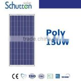 CHINA TOP 10 manufacture polycrystalline solar panel 150w with cell (Canadian or Yingli) on PID test and CHUBB insurance