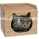 China Supplier Make OEM Available banana leaf cat shape cat cave bedding