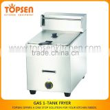 Gas Fryer Super Deep Tank/LPG LNG Gas 2800PA Gas Fryer