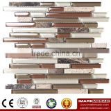 IMARK Crystal Glass Mosaic Tiles Mix Marble Mosaic Tiles for Wall Decoration Code IXGM8-105