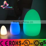 new rechargeable multi color change large size led egg table lamp lighting by remote control