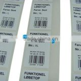 2014 custom design promotional die cut self adhesive sticker with bar code