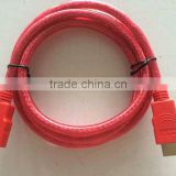 1.4 version bare copper conductor 5.5mm jacket OD hdmi cord laptop to tv from China factory