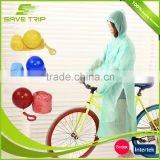 Promotional disposable emergency PE disposable plastic rain coat poncho in ball