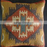 Handmade Kilim Cushion Cover Indian 18X18 Jute Pillows Vintage Hand Woven Throw Shams Decorative Rug Cushions