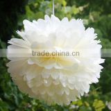 "20cm 8"" Fiesta Tissue Paper Pom-Poms Handmade Paper Flowers For Home Decoration with factory price"