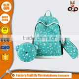 OEM service factory price swedish backpack wholesale thermal transfer printing set school shoulder bag,pencil case